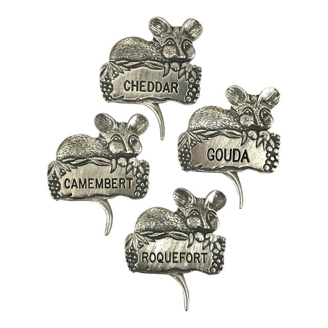 Pewter Mice Cheese Markers For Sale