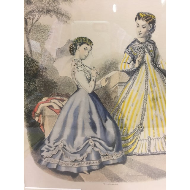 French Antique French Fashion Print For Sale - Image 3 of 4