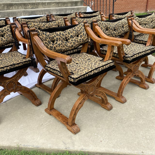 Italian Italian Carved Curule Dining Chairs - Set/12 For Sale - Image 3 of 13