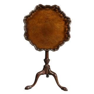 George III Mahogany Tilt Top Tea Table For Sale