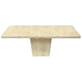 Travertine Marble Console Table For Sale