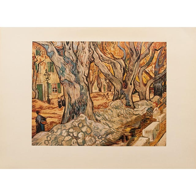 "Orange 1950s Vintage ""The Road-Menders"" Van Gogh, First Edition Lithograph For Sale - Image 8 of 9"