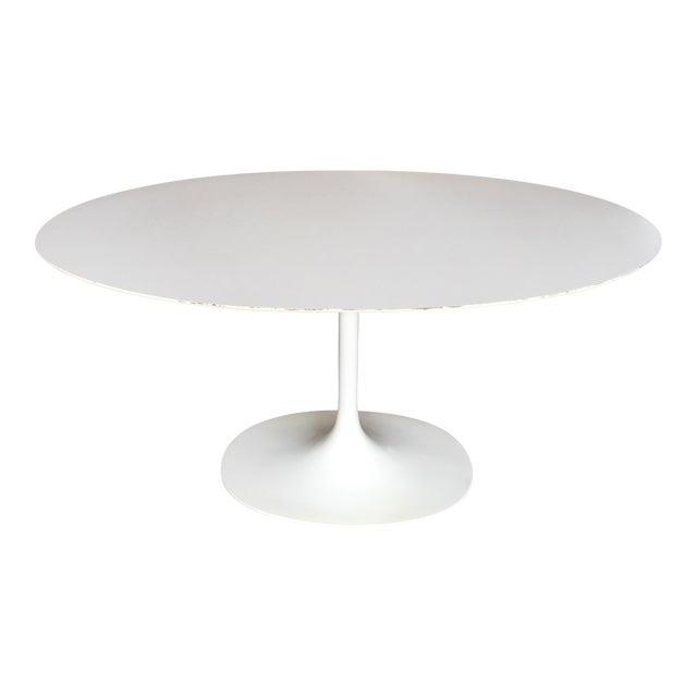 Mid-Century Saarinen Style Oval Tulip Table For Sale