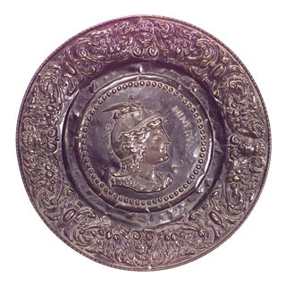 Italian Neo-Classic Embossed Roman Wall Plaque For Sale