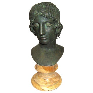 Apollo Marble & Cast Bronze Bust For Sale