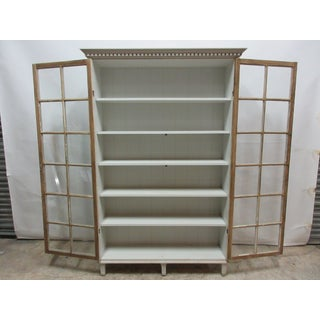 Gustavian Gray 2 Door Glass Cabinet Preview