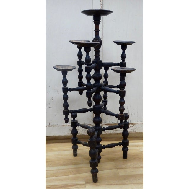 Distressed English Candle Stand - Image 3 of 4