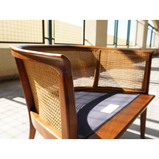 Milo Baughman Cane Back Lounge Chair - Image 5 of 6