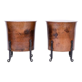 French Copper End Tables or Stands - A Pair For Sale
