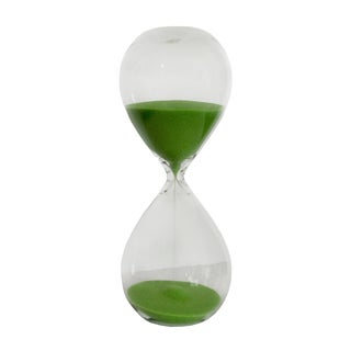Freestanding 30 Minute Hourglass With Green Sand For Sale