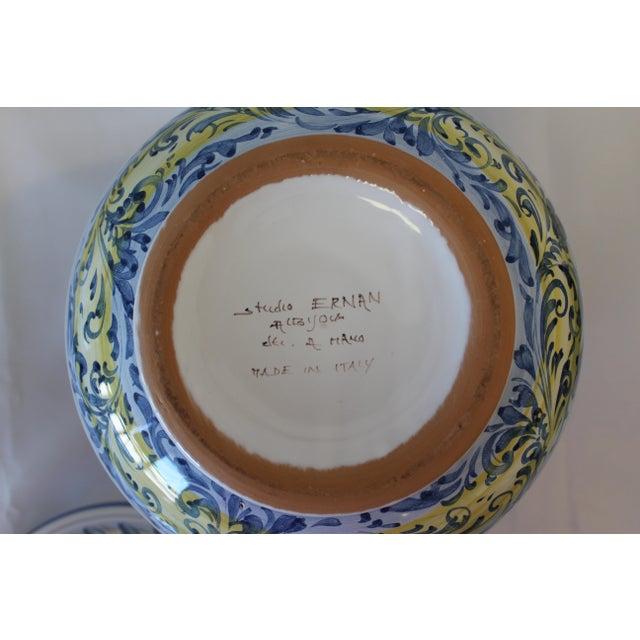 Vintage Ernan Italian Hand Painted Ceramic Lidded Urn For Sale In Dallas - Image 6 of 10