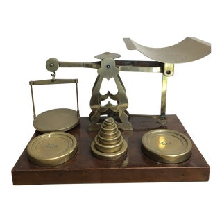 Antique S. Mordan and Company of London Postal Scale With Brass Weights For Sale