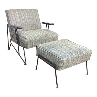 Mid-Century Modern Lounge Chair & Ottoman For Sale