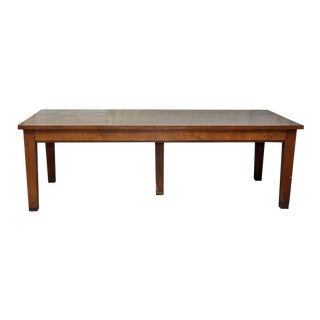 20th Century American Classical Wood Conference Table For Sale