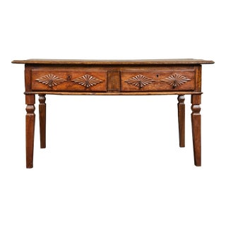 18th Century Portuguese 2 Drawer Table For Sale