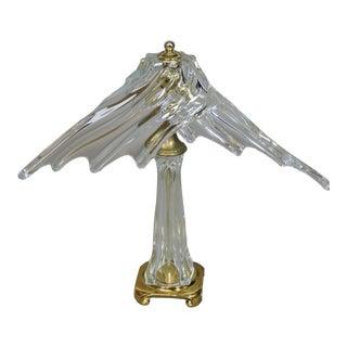 1970s Cofrac Art Verrier France Freeform Crystal Table Lamp For Sale