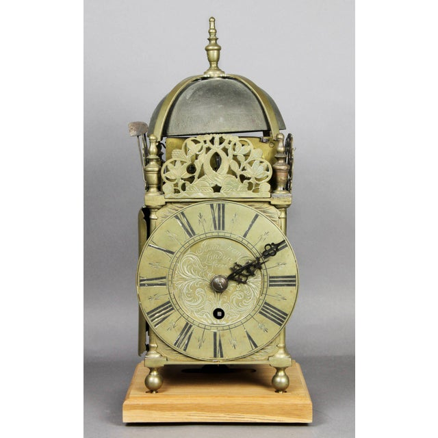 William and Mary Brass Lantern Clock by John Drew, London For Sale - Image 10 of 10