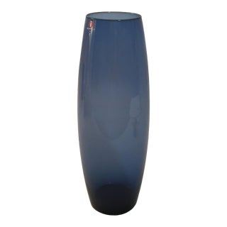 Tapio Wirkkala for Iittala Finland Blue Vase 2790 For Sale