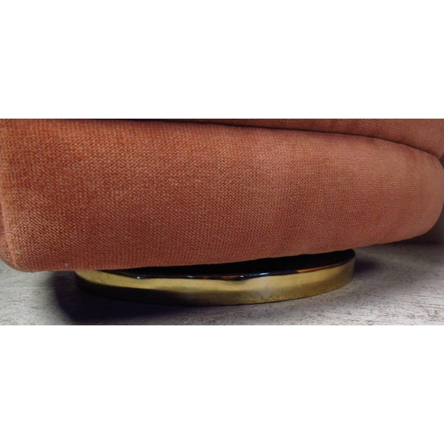 Great pair of Classic tub chairs with swivel bases by Milo Baughman for Thayer Coggin. Please confirm item location (NY or...