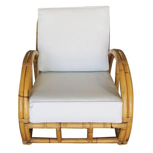 Half Moon Rattan Two Strand Lounge Chair - Image 3 of 6