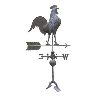 Vintage Rustic Rooster Weathervane For Sale
