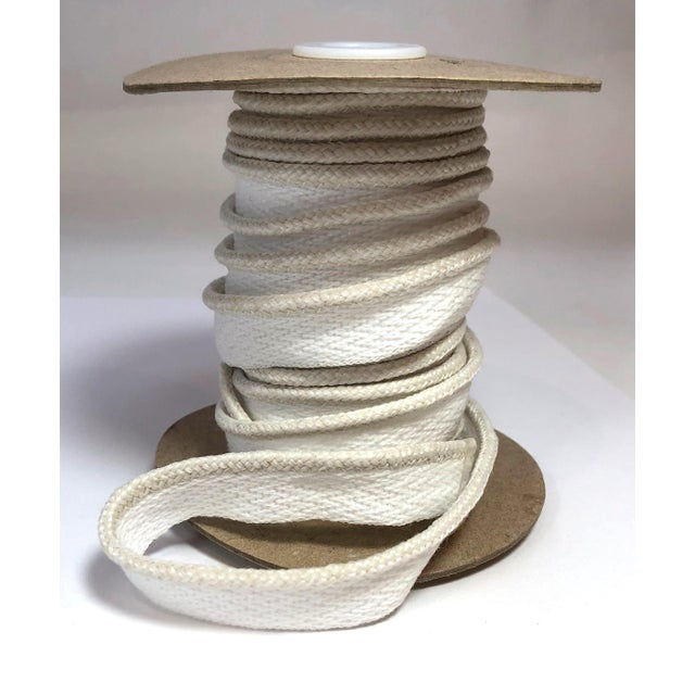 """Textile Braided 1/8"""" Indoor/Outdoor Cord in Ivory-White For Sale - Image 7 of 7"""