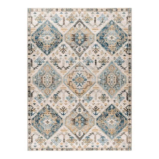 Peyton Renata Transitional Oriental Multi-Color Rectangle Area Rug - 5' x 8' For Sale