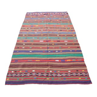 Turkish Tribal Decorative Kilim -9' 6'' x 5' 6''