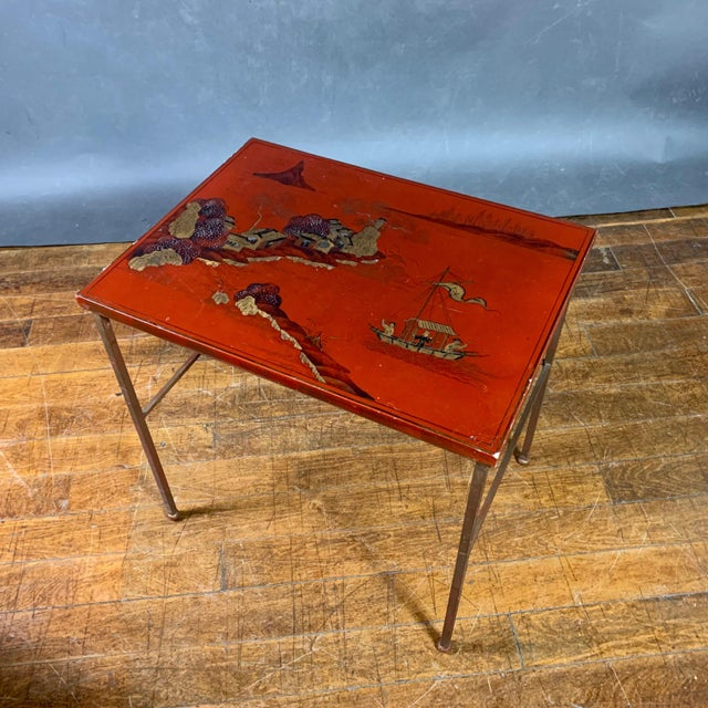 19th Century Chinese Red Lacquered Nesting Tables - Set of 3 For Sale - Image 4 of 13