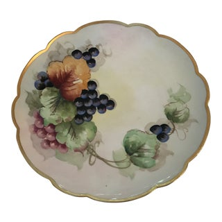 Early 20th Century Antique French Limoges Plate For Sale