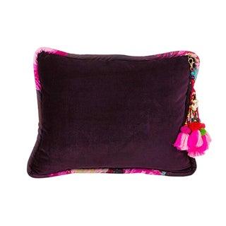 Dark Purple / Ashes of Roses Velvet Throw Pillow For Sale