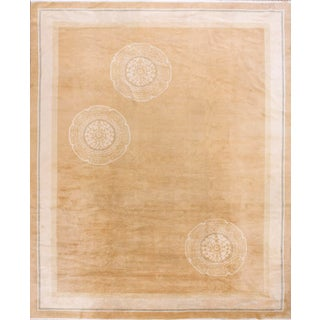 Antique Chinese Art Deco Rug- 11′4″ × 13′9″ For Sale