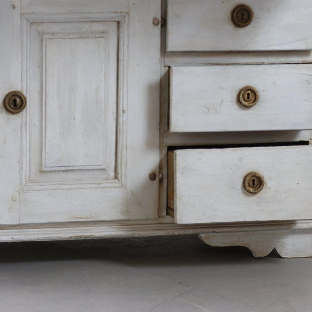18th Century Painted Swedish Clock Desk For Sale - Image 4 of 5