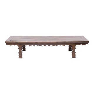 19th Century Chinese Low Table With Carved Apron For Sale