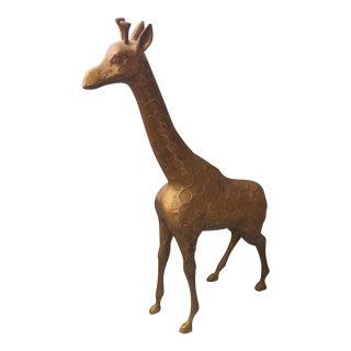 Brass Giraffe Figurine For Sale