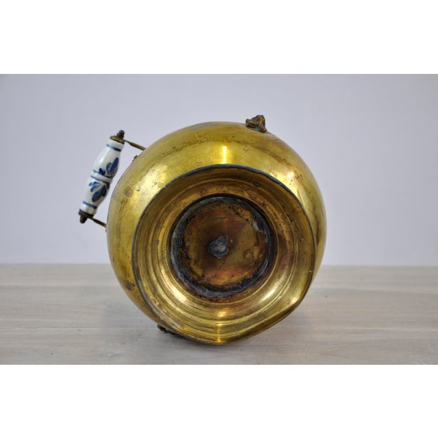 Vintage Brass Helmet Coal Scuttle For Sale - Image 10 of 11