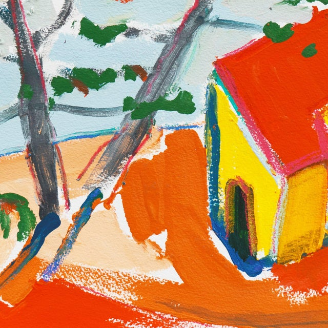 'Carmel Cottage' by Robert Canete, California Expressionist, Stanford For Sale - Image 4 of 7