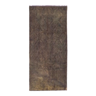 Mid 20th Century Tirnam Persian Overdyed Rug - 4′6″ × 10′6″