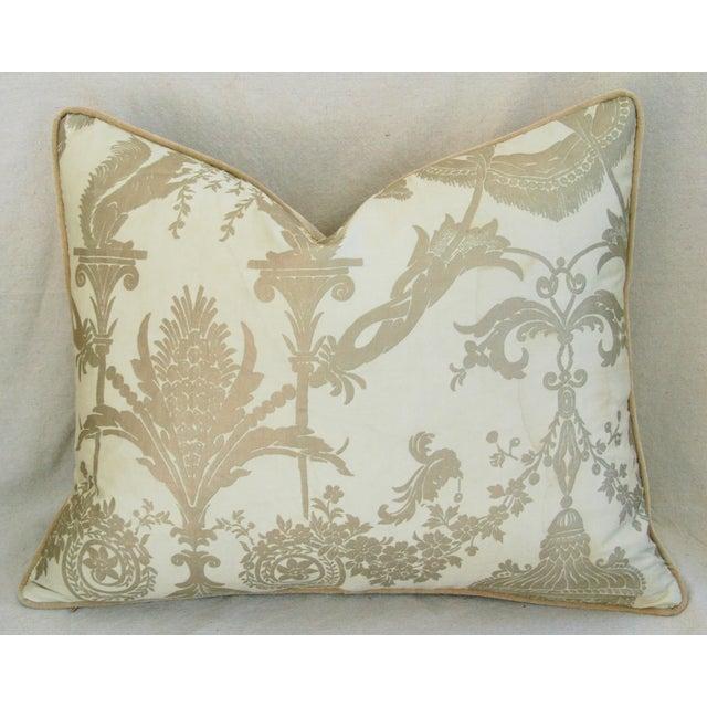 Designer Italian Fortuny Lamballe Pillows - Pair - Image 6 of 11