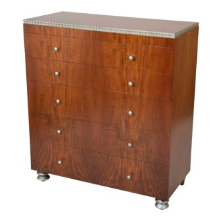 American Modernist Walnut Chest of Drawers by Robert Irwin For Sale