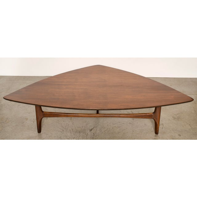 1960s Mid-Century Modern Erwin Lambeth Walnut Coffee Table For Sale In Miami - Image 6 of 10