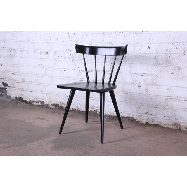 Black Paul McCobb Ebonized Planner Group Dining Chairs - Set of 10 For Sale - Image 8 of 13