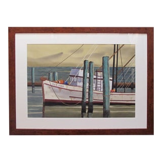 Watercolor on Paper 'Sea Dog, Santa Barbara, California' Signed Michael Dunlavey For Sale