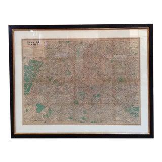 """Plan De Paris"" Original Vintage Paris Metro Map"