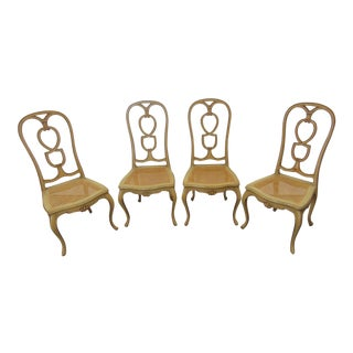French Style Cream Painted Side Chairs - Set of 4 For Sale