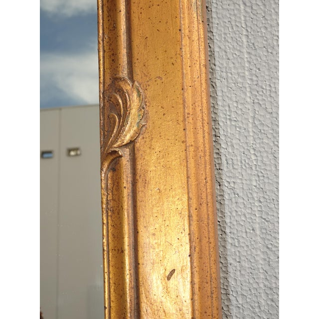 1950s Vintage French Provincial Gold Wall Mantle Mirror For Sale - Image 9 of 13