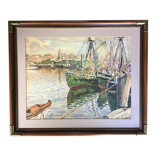 1950s Vintage Joseph Margulies Framed Painting For Sale