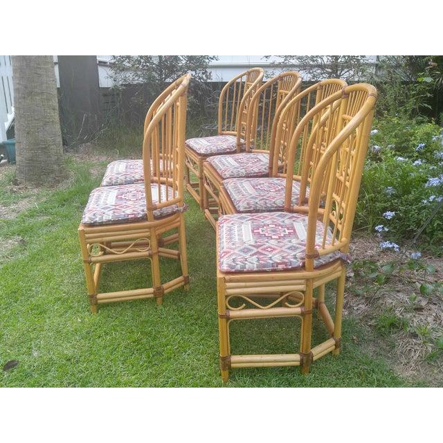 Brighton Rattan Chairs - Set of 6 - Image 4 of 5