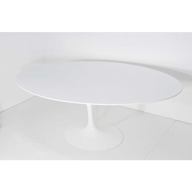 Eero Saarinen for Knoll Oval Tulip Table For Sale In Dallas - Image 6 of 9