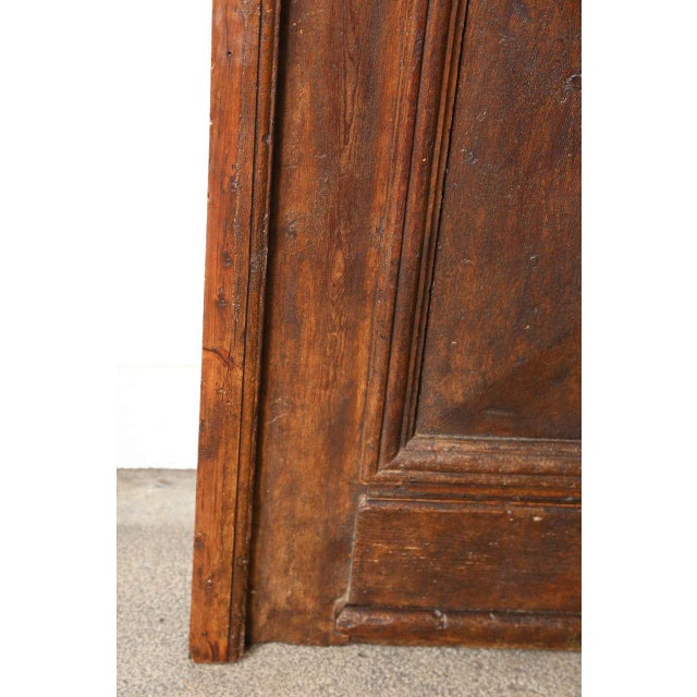 Brown Set of French Painted Double Entry Door With Iron Insert For Sale - Image 8 of 11